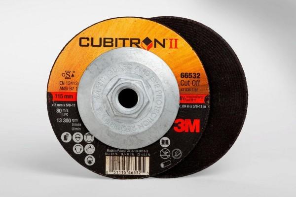 3M™ Cubitron™ II Cut-Off Wheel Quick Change 66532, T27 4.5in x .09in x 5/8-11in, 25 per inner, 50 per case
