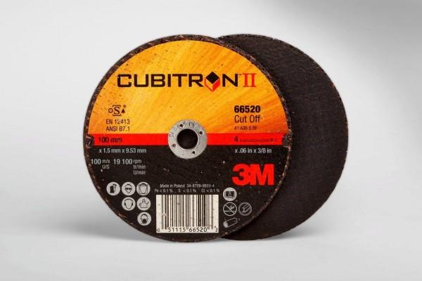 3M™ Cubitron™ II Cut-Off Wheel 66520, T1 4in x .06in x 3/8in, 25 per inner, 50 per case