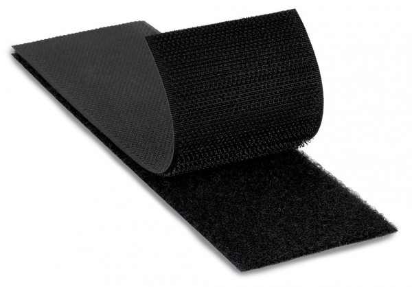 3M™ Fastener SJ3418FR Loop Flame Resistant Black, 4 in x 50 yd 0.15 in Engaged Thickness, 3 per case Bulk