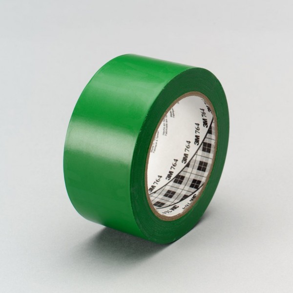 3M™ General Purpose Vinyl Tape 764 Green, 1 in x 36 yd 5.0 mil, 36 per case Bulk