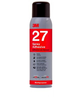3M™ Multi-Purpose 27 Spray Adhesive Clear, Net Wt 13.05 oz, 12 cans per case