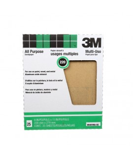 3M™ Production™ Sheet 210N, 9 in x 11 in 220 A weight, 100 per sleeve 1 per inner 10 per case