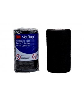 3M™ VetRap™ Bandaging Tape 1410BK-LFHT, 4 in x 5 yd (100 mm x 4,5 m) Latex Free, Hand Tear