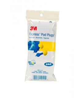 3M™ E-A-R™ EXPRESS™ Pod Plugs™ Earplugs VP311-1115, Corded, Vending Pack, 4 Pair/Pack, 125 EA/Case