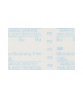 3M™ Microfinishing PSA Film Type D Disc 268L, 10 in x NH 9 Micron, 100 per case