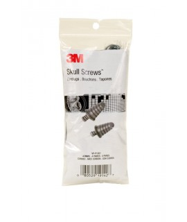 3M™ Skull Screws™ Corded Earplugs in Vending Pack VP-P1301, 4 pair/pack, 125 packs/case