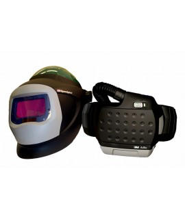 3M™ Adflo™ PAPR with 3M™ L-705SG Hard Hat 34-0705-SGX, Li Ion Batt, Welding Shield, Wideview Face Shield, ADF 9100X, 1 EA/Case