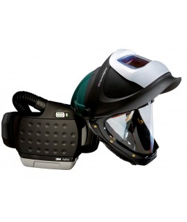 3M™ Adflo™ PAPR with 3M™ L-705SG Hard Hat 34-0705-SGXX, Li Ion Batt, Welding Shield, Wideview Face Shield, ADF 9100XX, 1 EA/Case