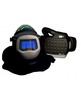 3M™ Adflo™ PAPR with 3M™ L-905SG Welding Helmet 34-0905-SGX, Li Ion Batt, Welding Shield, Wideview Face Shield, ADF 9100X, 1 EA/Case