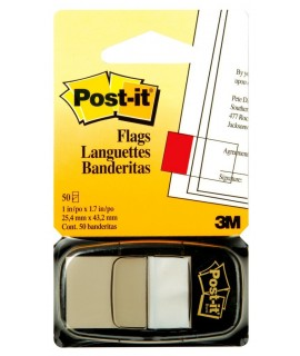 Post-it® Flags 680-6 (36) 1 in x 1.7 in (25,4 mm x 43,2 mm) White 50 flags/pd, 36/cs