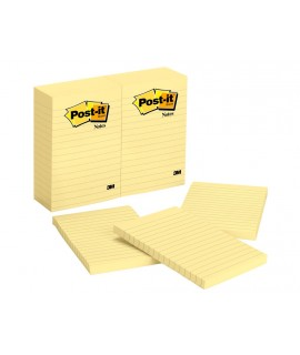 Post-it® Notes 660, 4 in x 6 in (10.16 cm x 15.24 cm) Canary Yellow Lined