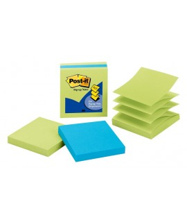 Post-it® Pop-up Notes 3301-3AU-LE, 3 in x 3 in (76 mm x 76 mm)