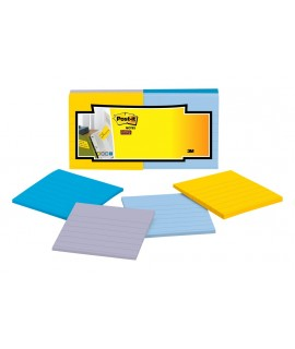 Post-it® Super Sticky Full Adhesive Notes F330-12SSAL Assorted Lined Pastel Colors