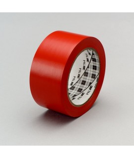 3M™ General Purpose Vinyl Tape 764 Red, 1 in x 36 yd 5.0 mil, 36 per case Bulk