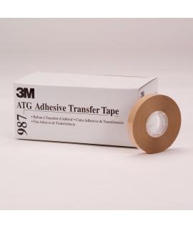 3M™ ATG Adhesive Transfer Tape 987, 0.25 in x 36 yd 2.0 mil, 72 per case