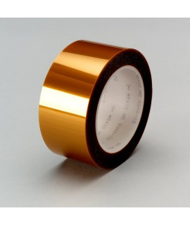 3M™ Linered Low-Static Polyimide Film Tape 5433 Amber, 12 in x 36 yd 2.7 mil, 1 per case Bulk