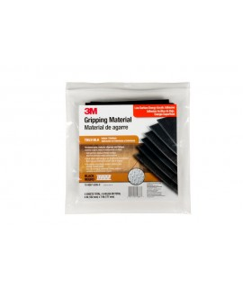 3M™ Gripping Material TB531BLK Black, 6 in x 7 in sheets, 6 sheets per bag