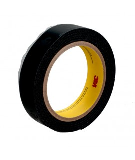 3M™ High Tack Hook Fastener Tape SJ30H Black, 5/8 in x 25 yd, 4 rolls per case Bulk