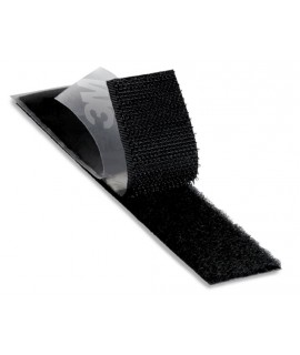 3M™ Fastener SJ3571 Loop S030 Black, 1 in x 50 yd, 0.15 in engaged thickness, 3 per case Bulk, Flagged Splice