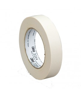 3M™ Paper Masking Tape 2214 Tan, 12 mm x 55 m 5.4 mil, 72 per case Bulk