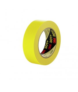 3M™ Performance Yellow Masking Tape 301+, 12 mm x 55 m 6.3 mil, 72 per case Bulk