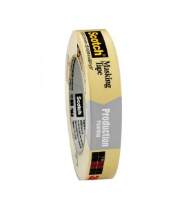 Scotch® Masking Tape for Production Painting 2020-18A-BK, 18 mm x 55 m, 48 per case Bulk, Restricted