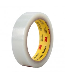 3M™ Polyester Film Tape 856 Transparent, 1/2 in x 72 yd, 72 per case