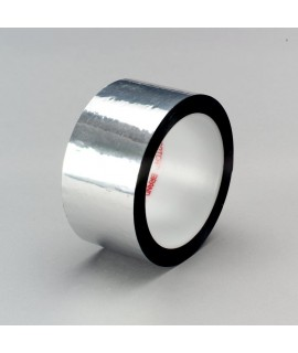 3M™ Polyester Film Tape 850 Silver, 3 in x 72 yd 1.9 mil, 12 per case Bulk