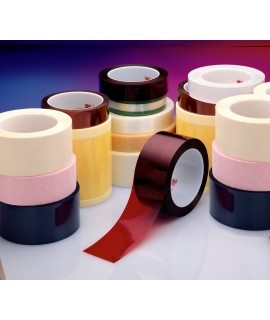 3M™ Polyester Film Tape 850, Red, 4 in x 72 yd, 1.9 mil, 8 per case