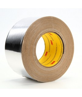 3M™ Aluminum Foil Tape 439 Silver, 5-1/8 in x 60 yd 3.1 mil, 8 rolls per case