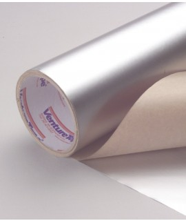 3M™ VentureClad™ Insulation Jacketing Tape 1577CW-CM Clear Natural Aluminum, 500 mm x 50 m, 1 per case