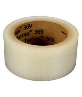 Tartan™ Box Sealing Tape 369 Clear, 48 mm x 50 m, 36 per case Bulk