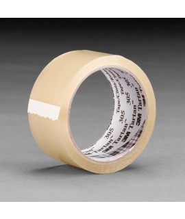 Tartan™ Box Sealing Tape 305 Clear, 48 mm x 50 m, 36 rolls per case Bulk