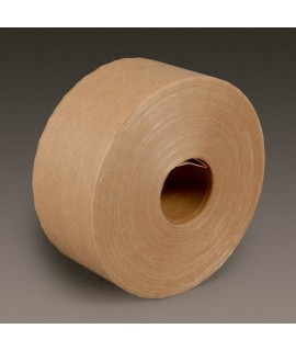 3M™ Water Activated Paper Tape 6145 Natural Light Duty Reinforced, 3 inch x 600 ft, 10 rolls per case