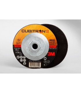 3M™ Cubitron™ II Cut-Off Wheel Quick Change 66532, T27 4.5in x .09in x 5/8-11in, 25 per inner, 50 per case