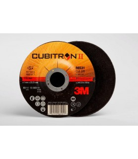 3M™ Cubitron™ II Cut-Off Wheel 66531, T27 4.5in x .045in x 7/8in, 25 per inner, 50 per case